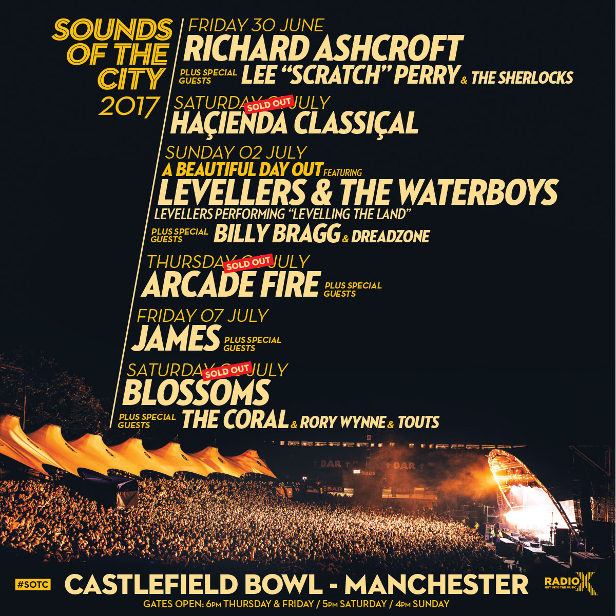Sounds of the City 2017 Richard Ashcroft support
