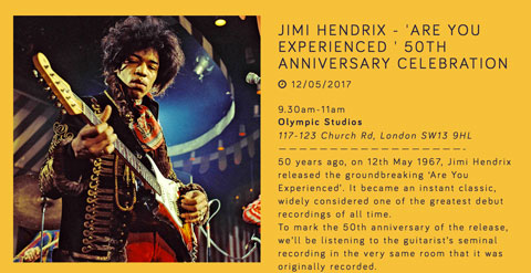 Jimi Hendrix poster meditation party