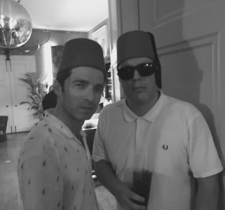 Noel Gallagher in a Fez for 50th Birthday bash
