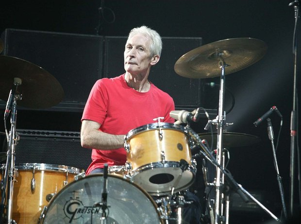 The Rolling Stones Charlie Watts drumming 2016