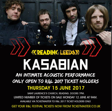 Kasabian Reading intimate Warm-up show poster