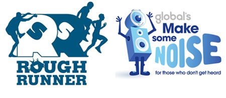 Rough Runner and Make Some Noise logos 450