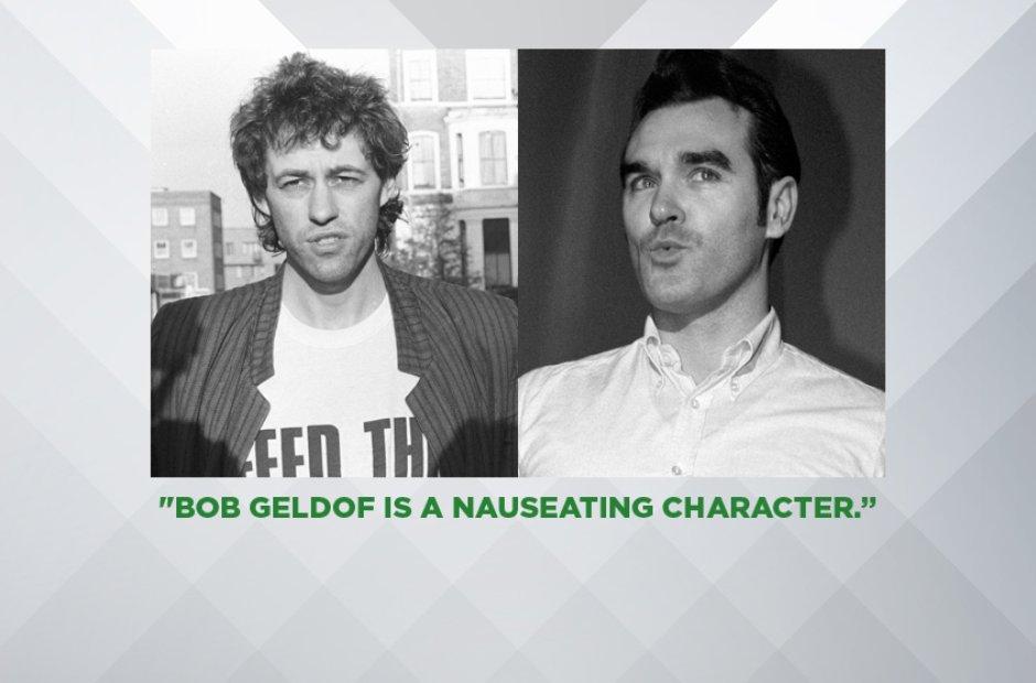 Morrissey on Bob Geldof