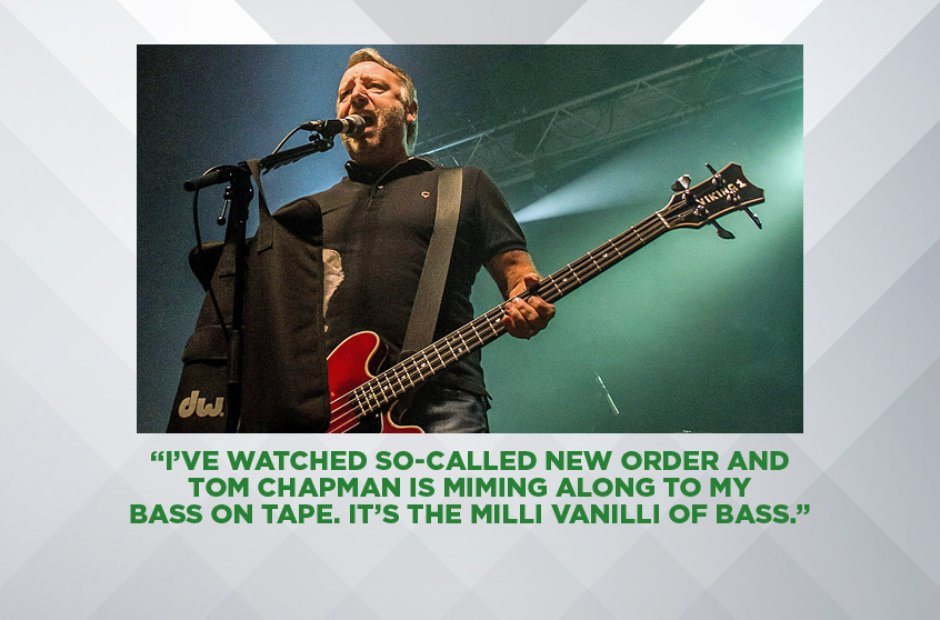 Peter Hook on the new New Order line-up