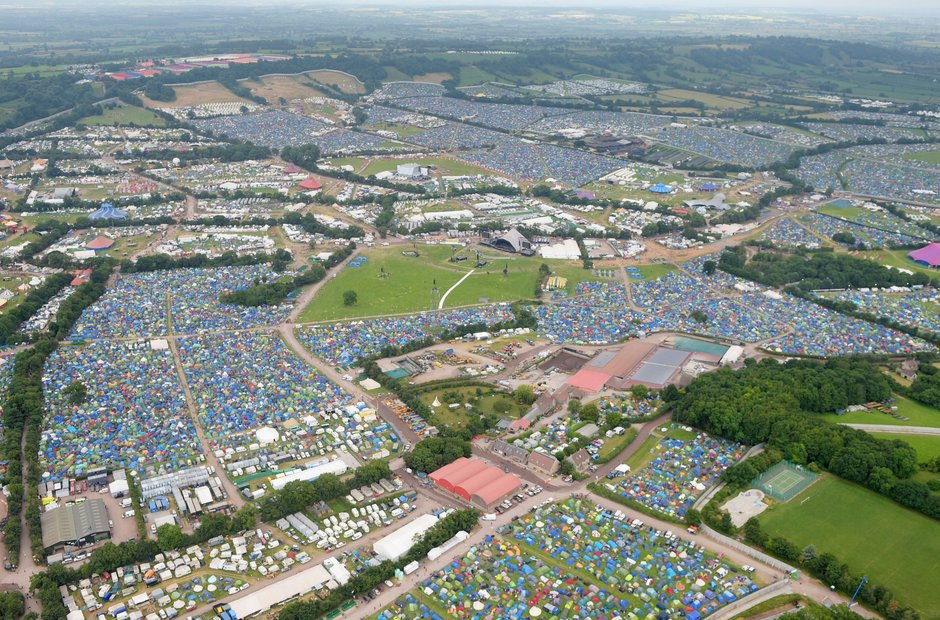 Glastonbury 2017 aerial shot