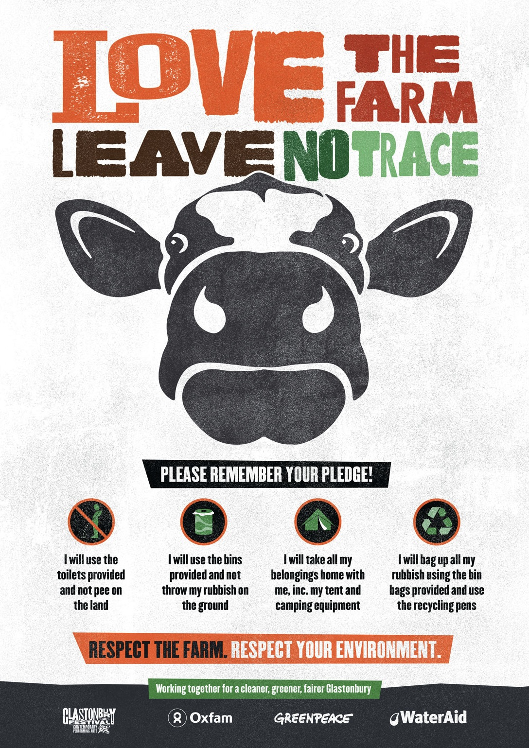 Glastonbury Leave No Trace Poster