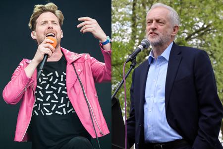 Ricky Wilson and Jeremy Corbyn