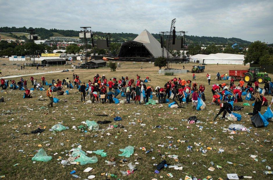 Glastonbury clean up