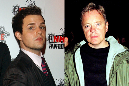 Brandon Flowers and Bernard Sumner