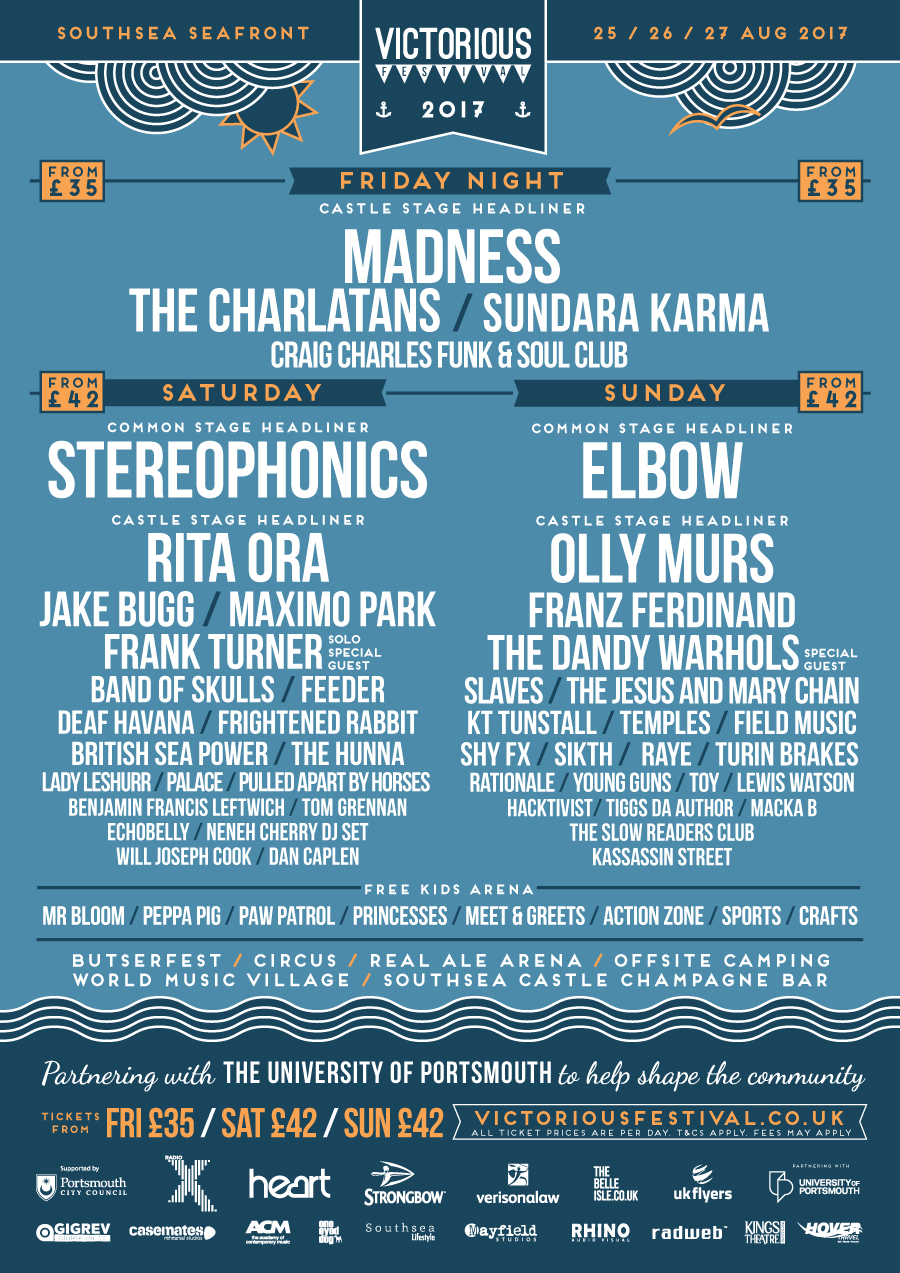 Victorious Festival 2017 Poster
