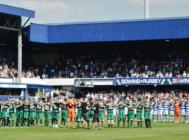 A minute's silence was held before the match to re