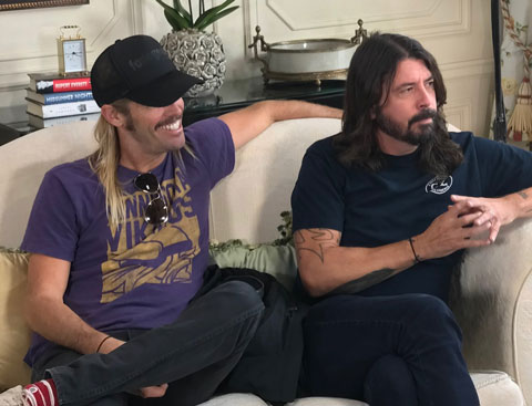 Foo Fighters being interviewed by Chris Moyles
