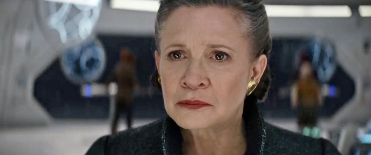 Carrie Fisher The Last Jedi Trailer
