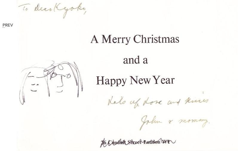 John Lennon Christmas Card For Sale