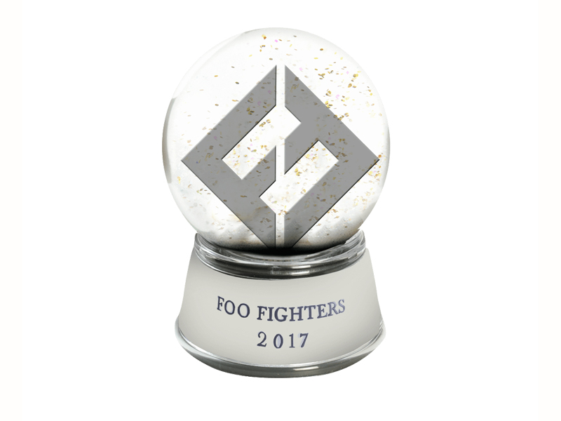 Foo Fighters Snow Globe