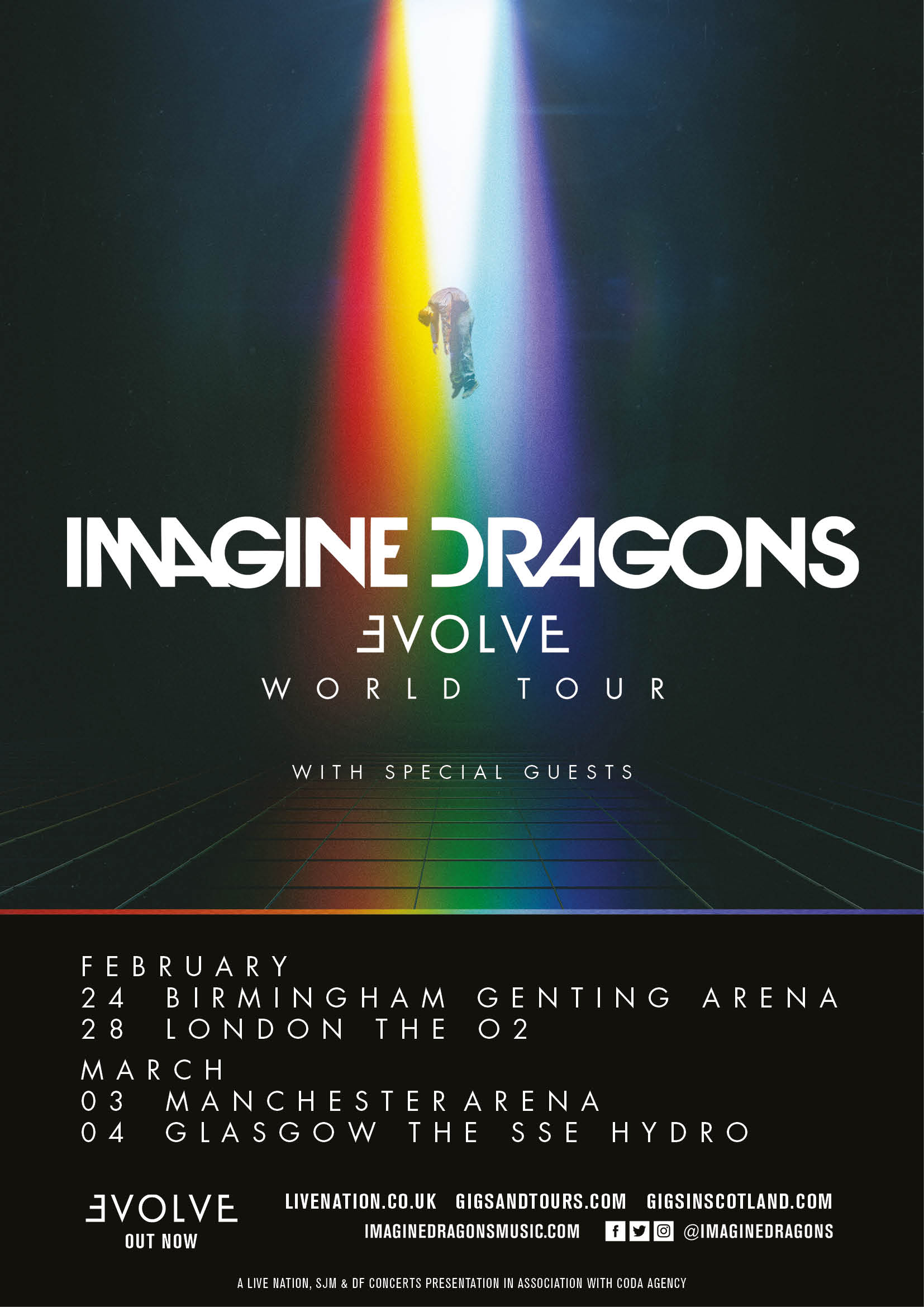 Imagine Dragons Evolve World Tour UK Dates