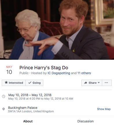 Prince Harry's Stag Do Facebook Page
