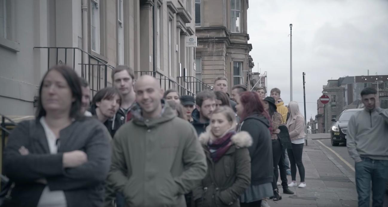 Fans queue outside for Liam Gallagher at King Tut'