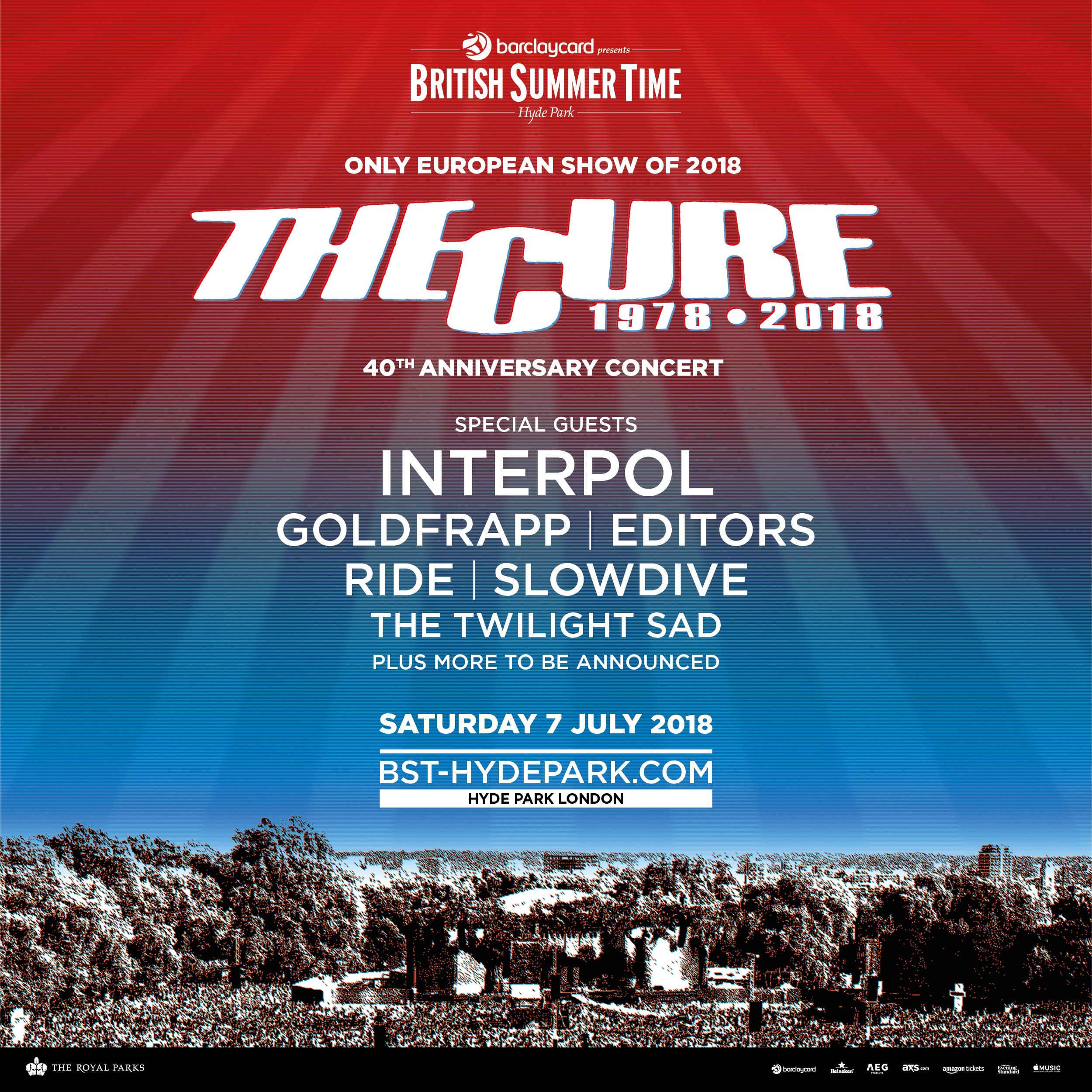 The Cure BST British Summer Time 2018 line-up post