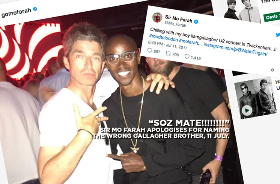 Noel Gallagher and Mo Farah