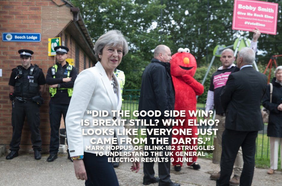 Teresa May and Elmo