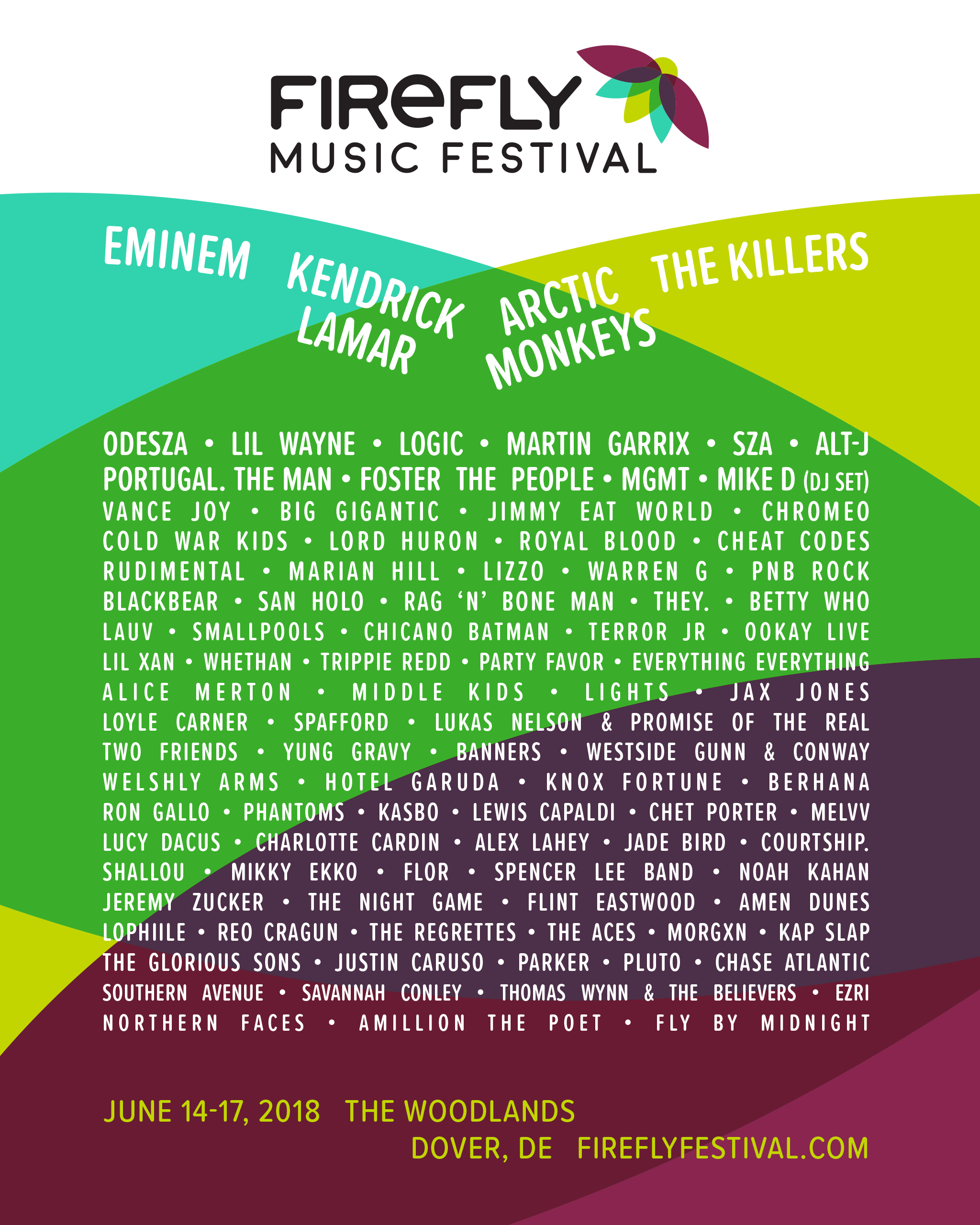 Firefly Festival 2018 Poster