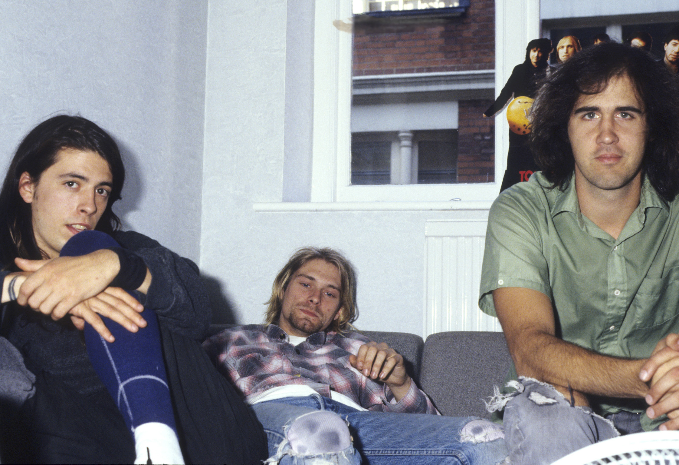 Dave Grohl Kurt Cobain and Kist Novoselic in Nirva