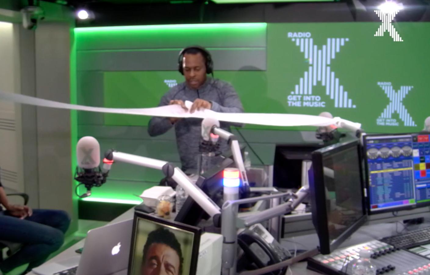 Andi Peters opens the Radio X studio for Chris