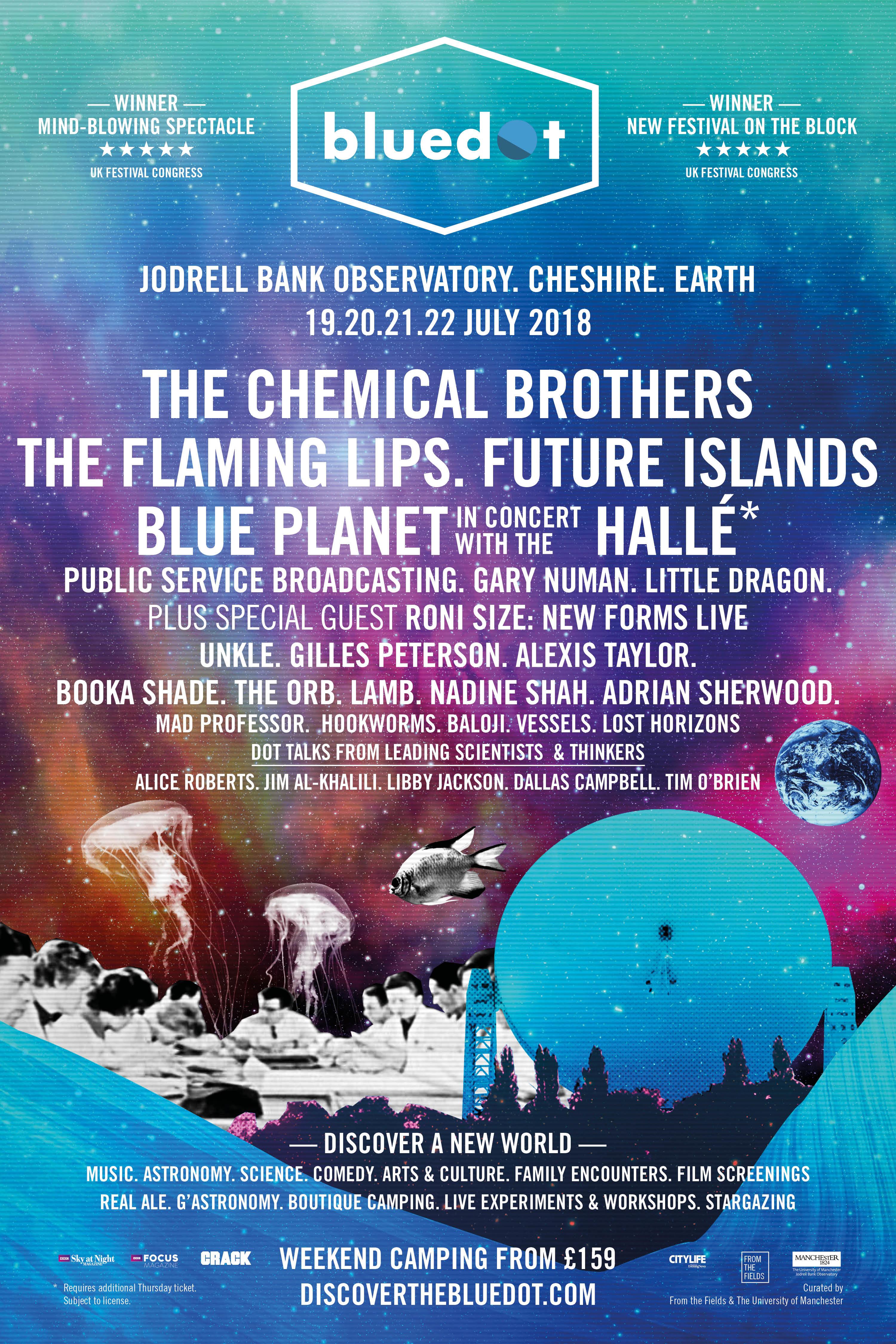 BlueDot Festival Poster 2018