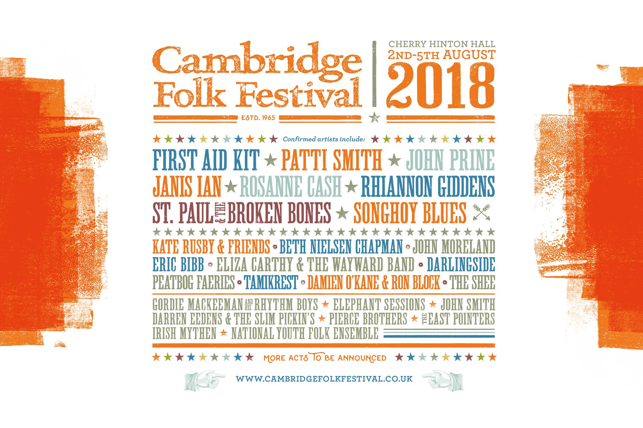 Cambridge Folk Festival 2018 Line-Up poster