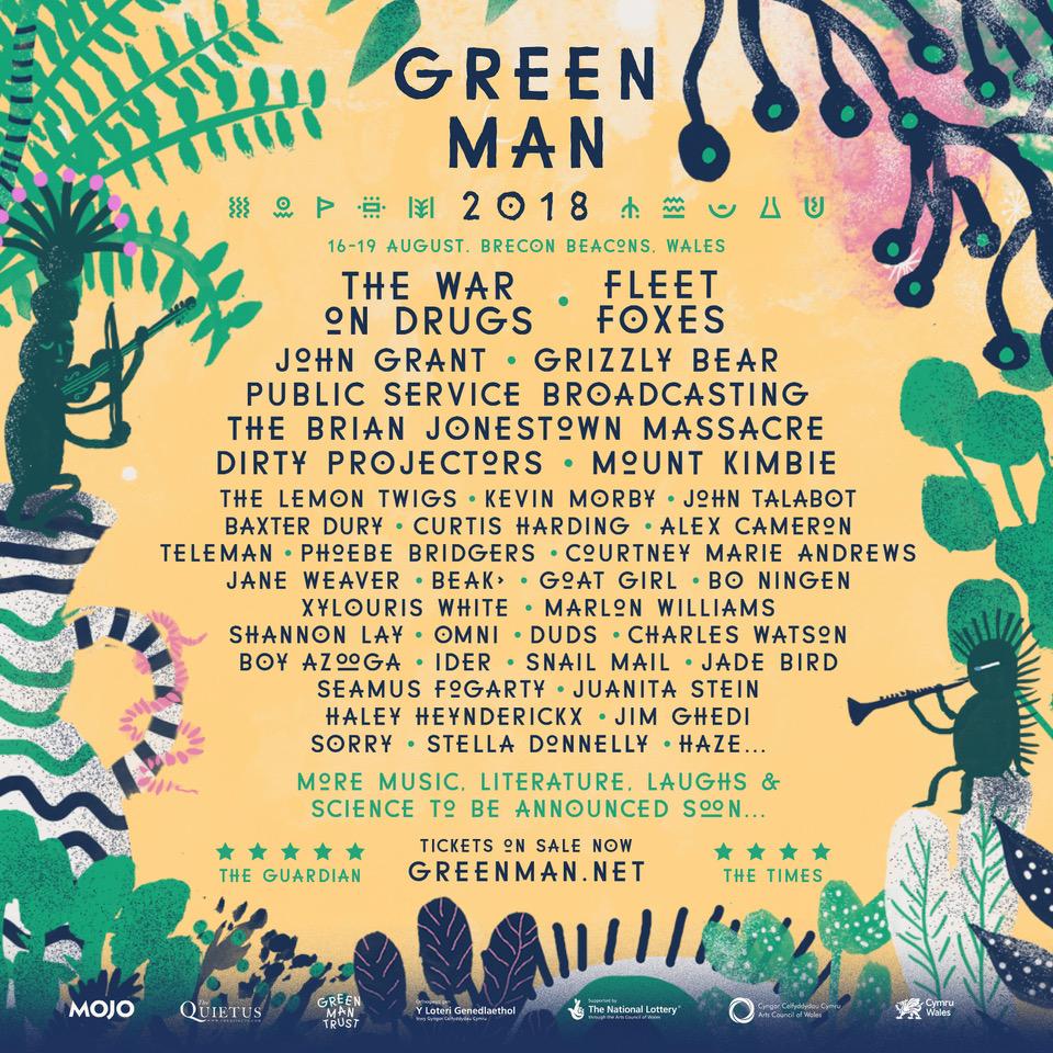 Green Man Festival 2018 poster