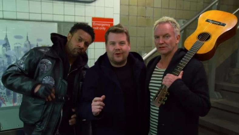 Shaggy, James Corden, Sting Carpool Karaoke GRAMMY