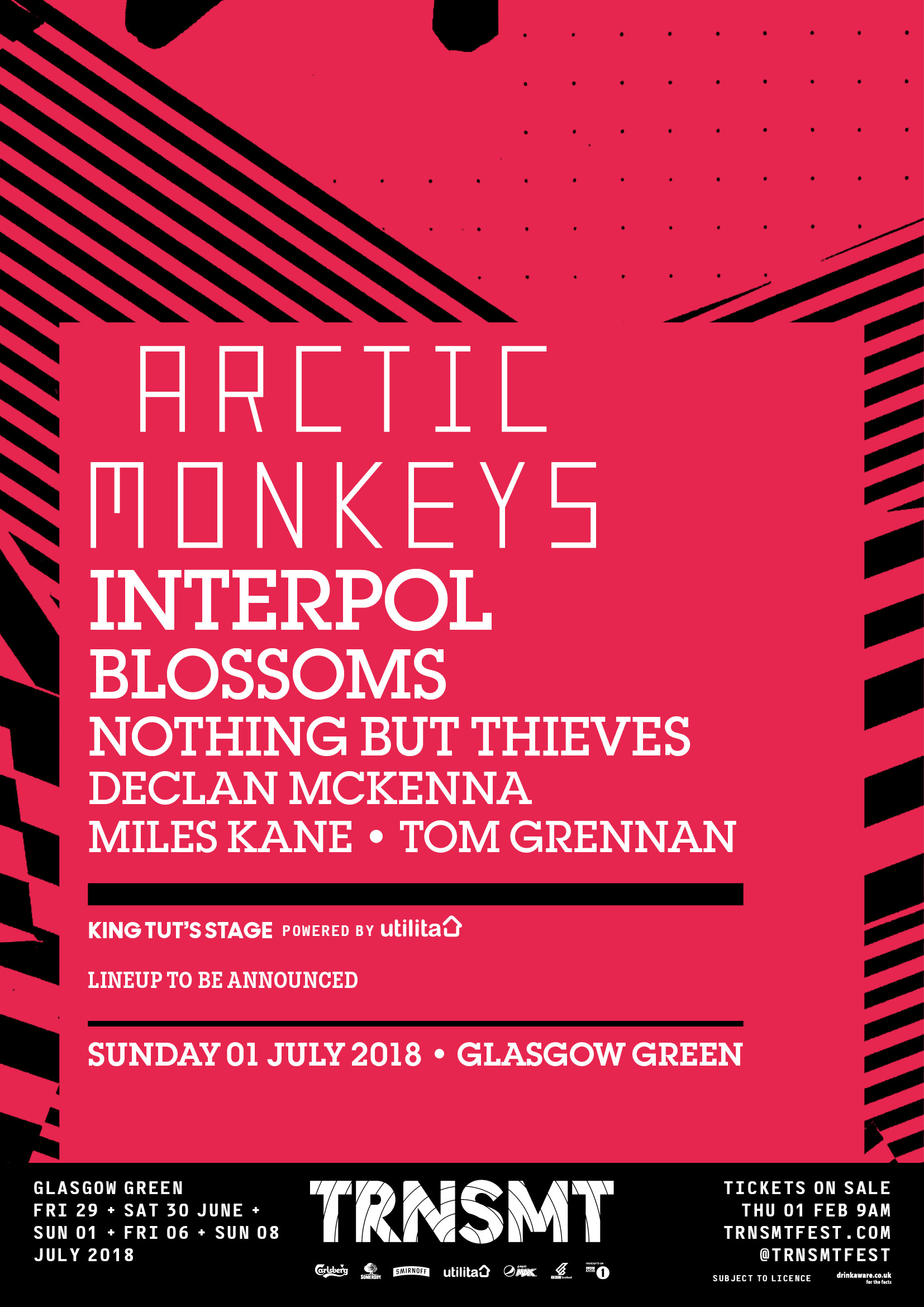 TRNSMT festival line up 1 July 2018