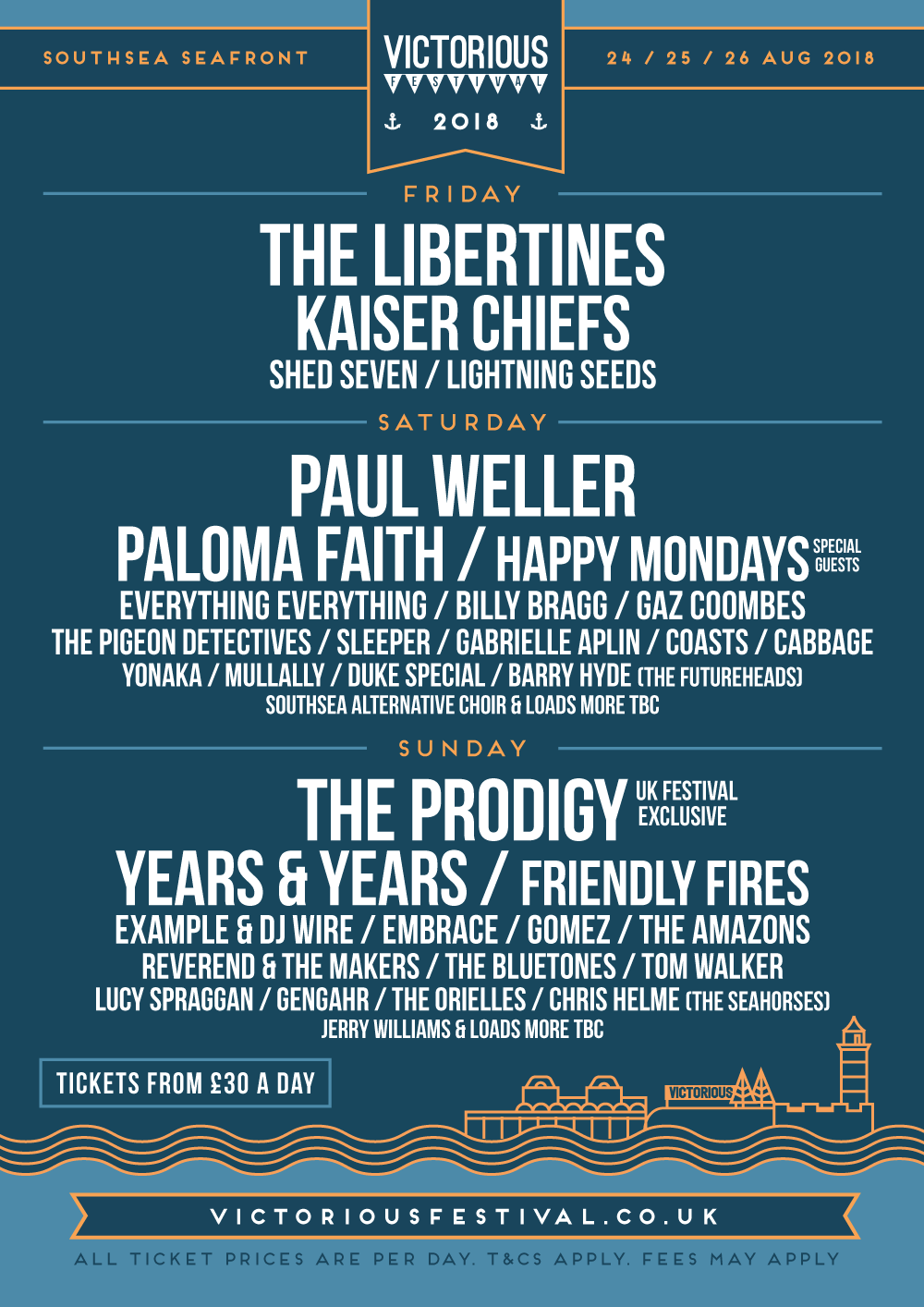 Victorious Festival 2018 poster