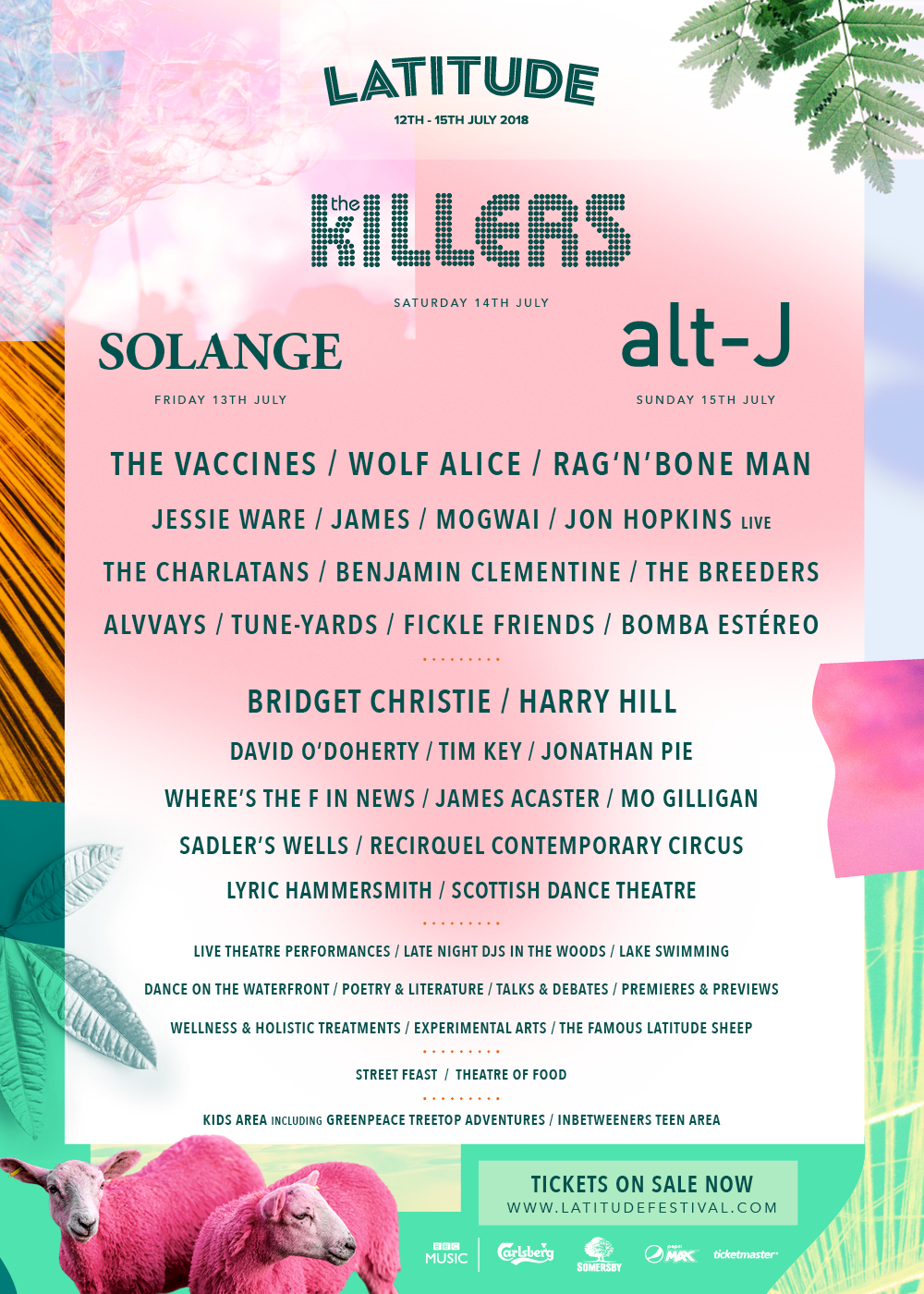 Latitude Festival 2018 line-up poster