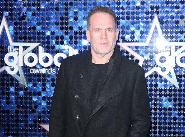 Chris Moyles Global Awards 2018 blue carpet