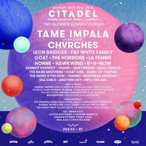 Citadel 2018 first lineup