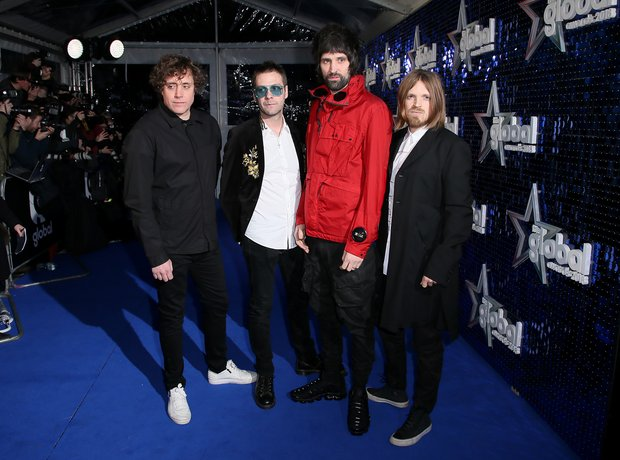 Kasabian Global Awards 2018 blue carpet