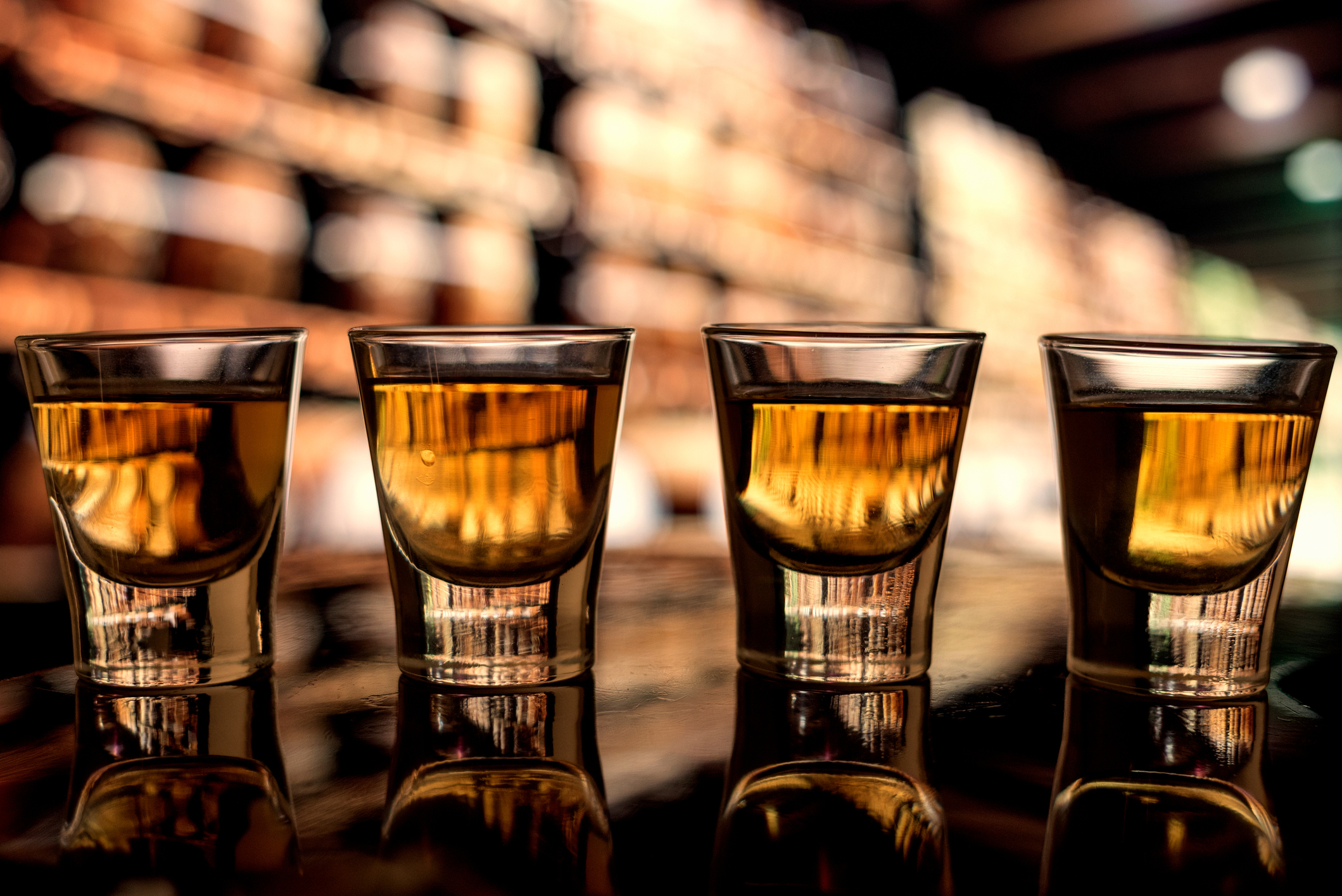Whiskey shots stock image