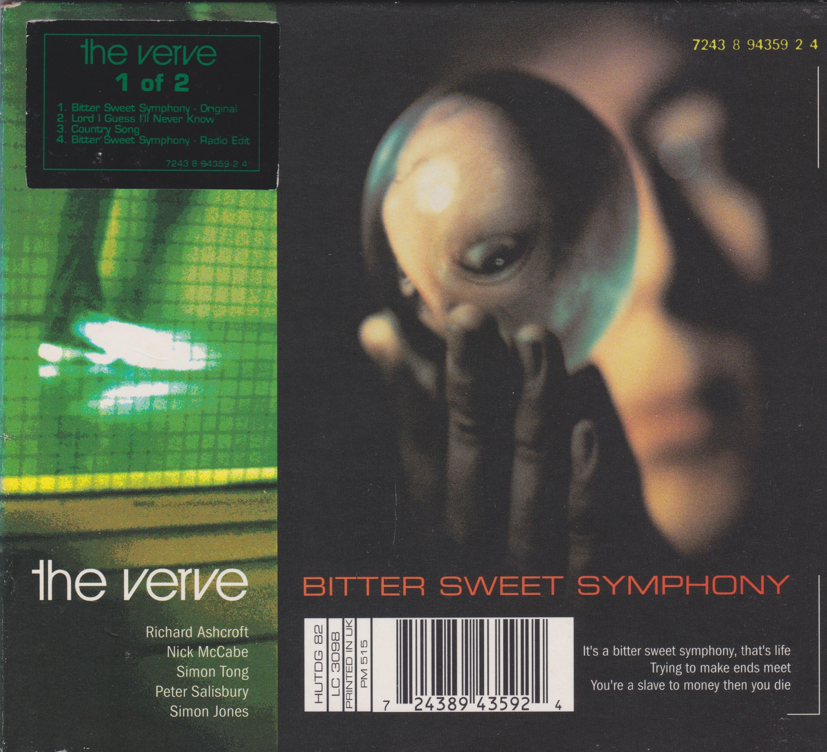 The Verve Bitter Sweet Symphony single artwork