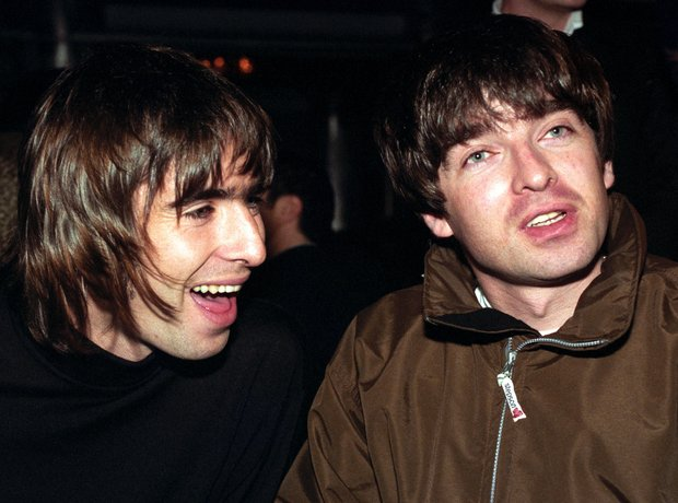 Liam and Noel Gallagher 1996