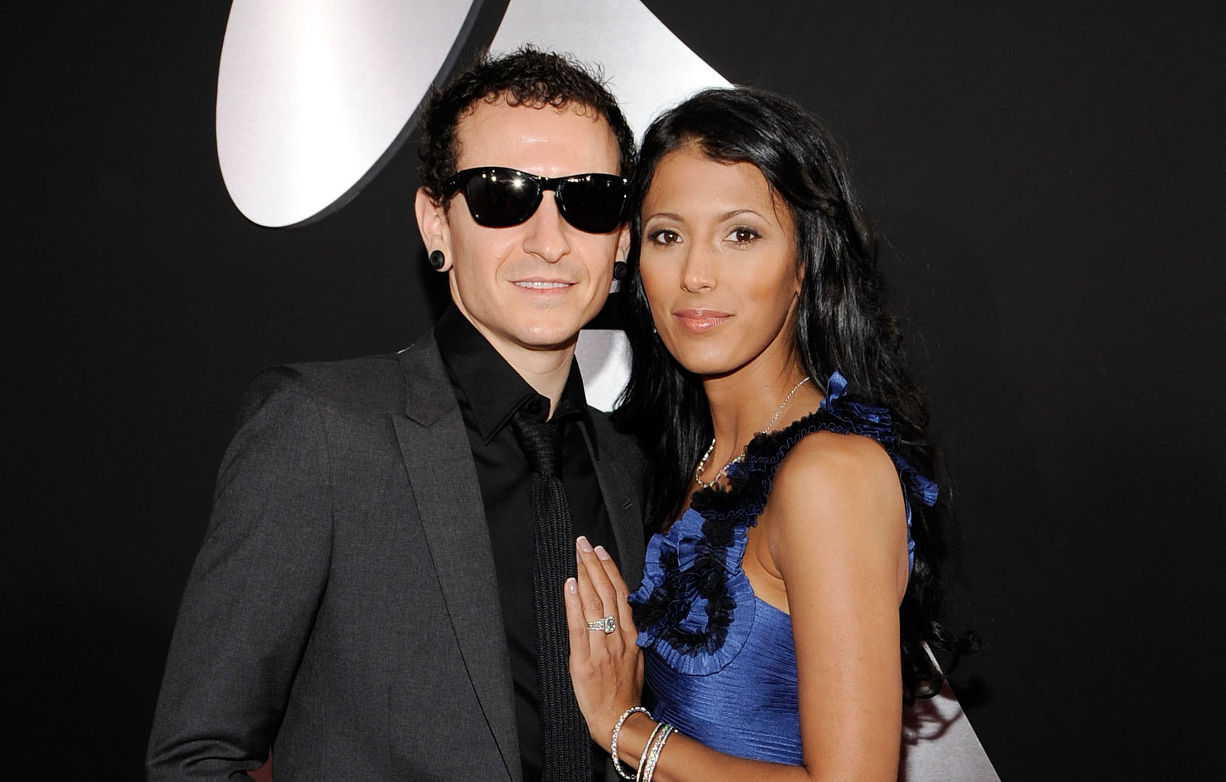Linkin Park frontman Chester Bennington with wife