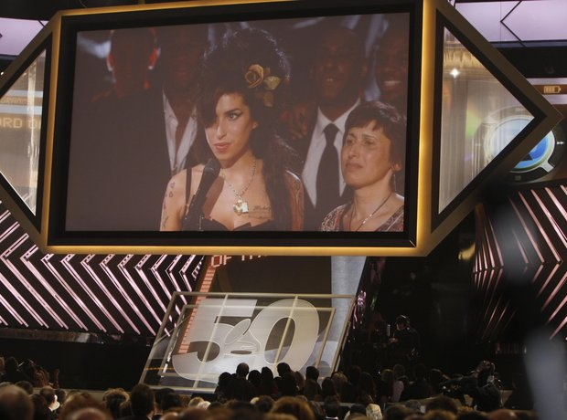 Amy Winehouse at the 2008 Grammy Awards