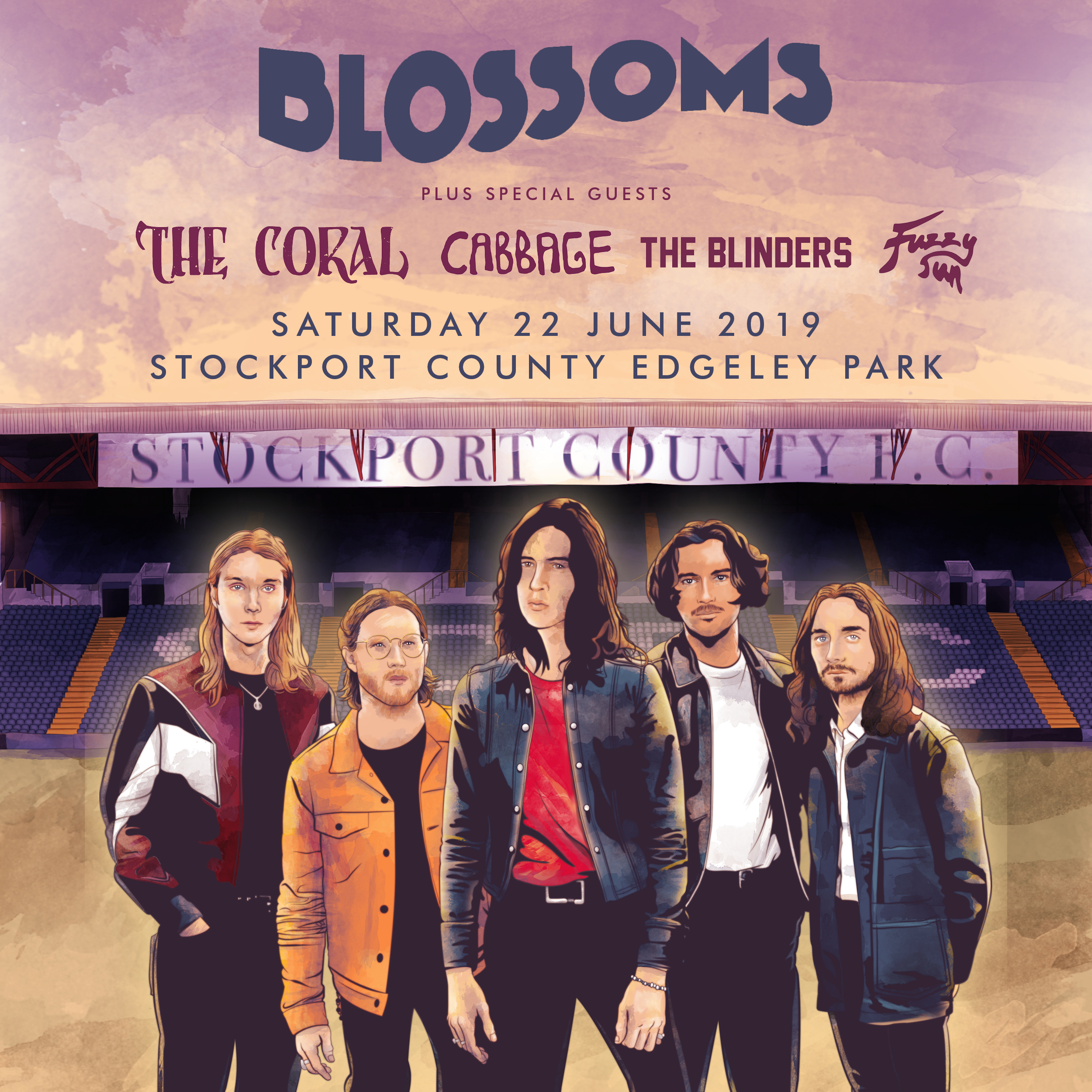 Blossoms headline gig announcement 2019